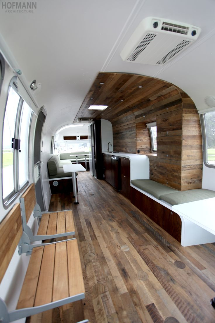 Interesting Airstream Interior Design This Contemporary yet fortable Mobile Office is A
