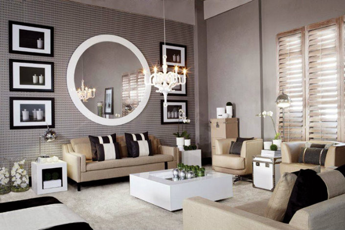 Living Room Mirrors Ideas 8 Ideas to Use A Round Mirror In A Large Living Room