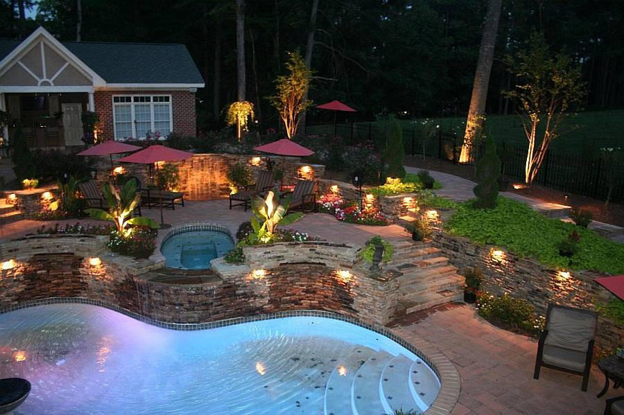 Outdoor Lighting Ideas 14 Best Outdoor Lighting Ideas for Pool Mini Lake From