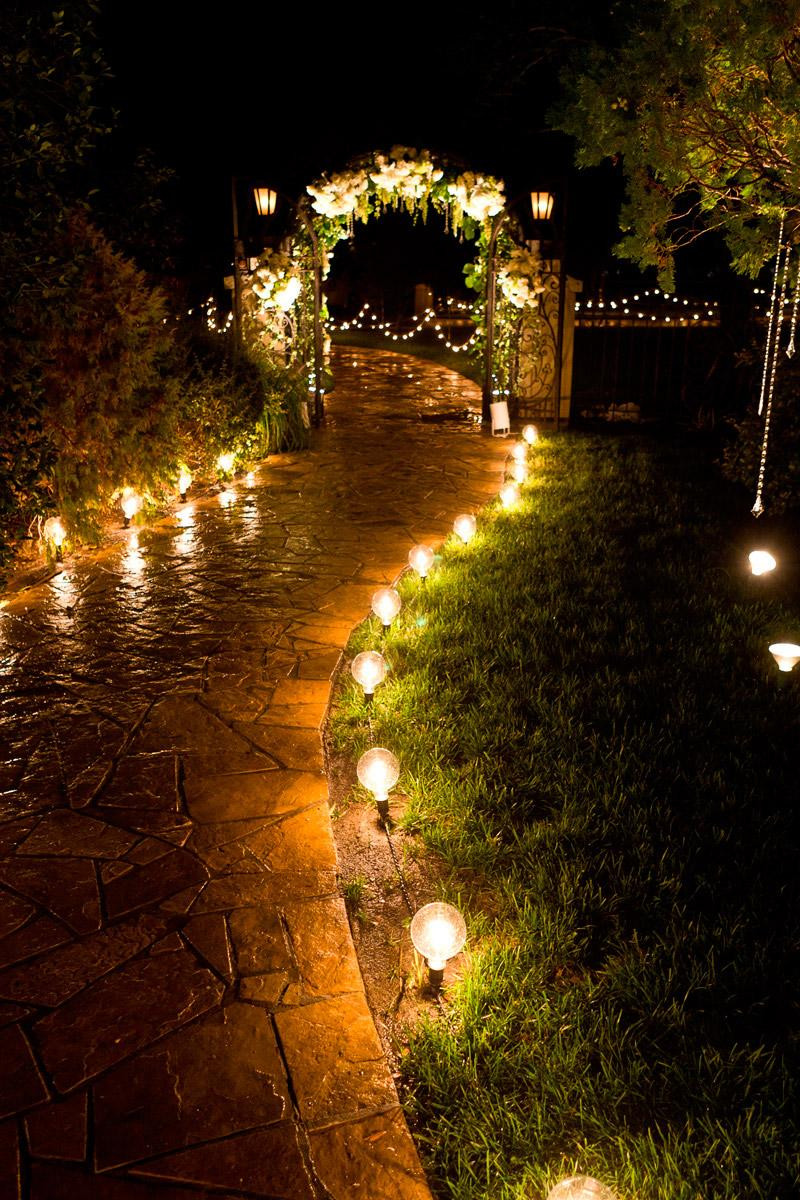 Outdoor Lighting Ideas 20 Gorgeous Walkway Ideas Leading Guests to Your Wedding