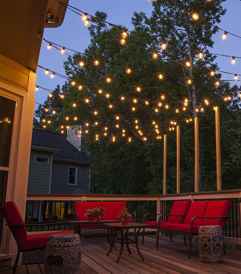 Outdoor Lighting Ideas How to Plan and Hang Patio Lights