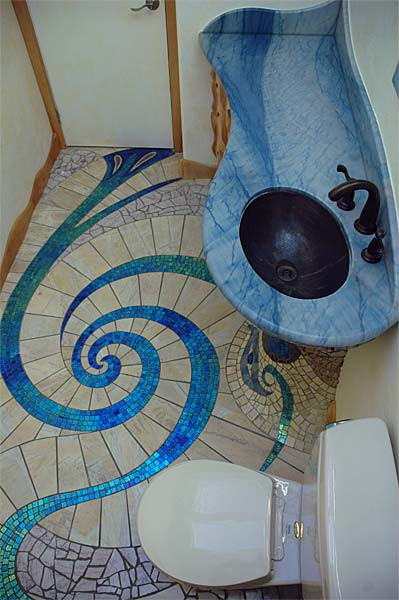 Unusual and Wonderful Bathroom Designs Unique and Amazing Mosaic Bathroom Design