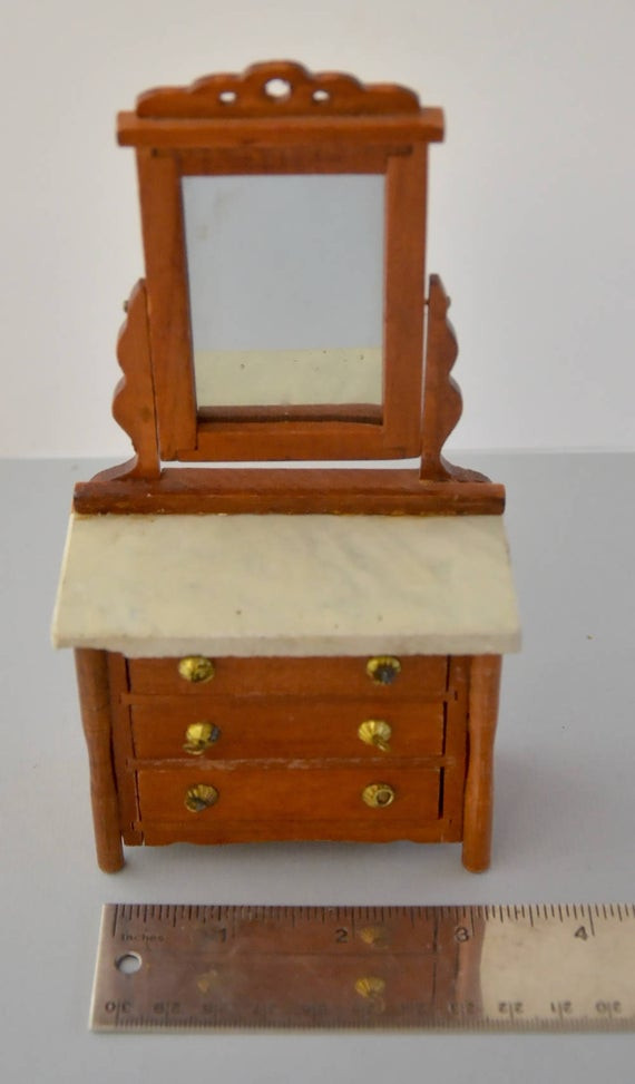 1940s Bedroom Furniture Styles 1940s 1950 Vintage Shackman Japan American Doll S House Colonial Furniture Marble Wood Bedroom Chest Of Drawers American English Chippendale