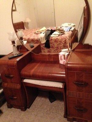 1940s Bedroom Furniture Styles 1940s Waterfall Art Deco Bedroom Furniture $995 00