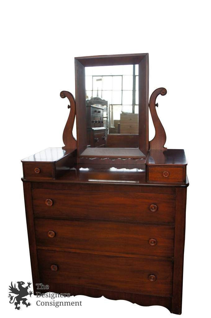 1940s Bedroom Furniture Styles Rare Cavalier Antique 1940s Mahogany Dresser with Mirror