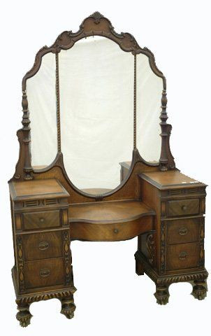 1940s Bedroom Furniture Styles Walnut 1940s Vanity the Mirror and Style Of This Vanity