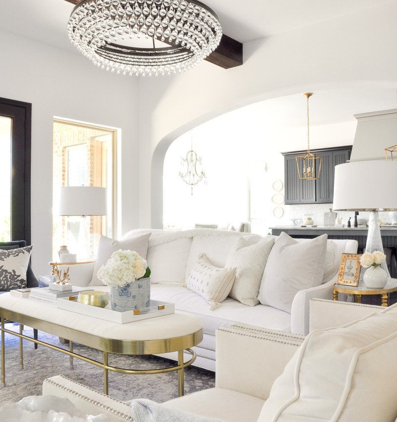 All White Living Room Decor Living Room Makeover Reveal by Decor Gold Designs