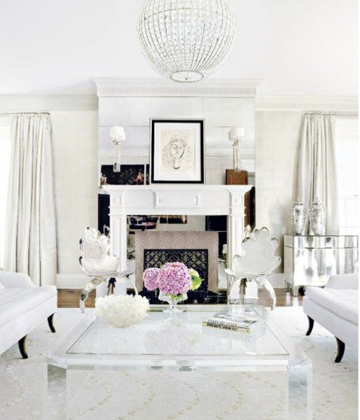 All White Living Room Decor Shades Of White Inspirations French Country Cottage