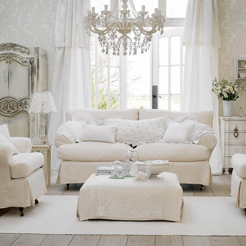 All White Living Room Decor White Living Room Ideas