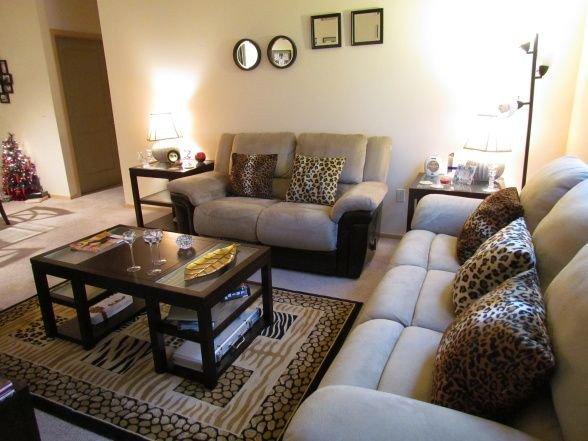Animal Print Living Room Decor Cheetah themed Rooms