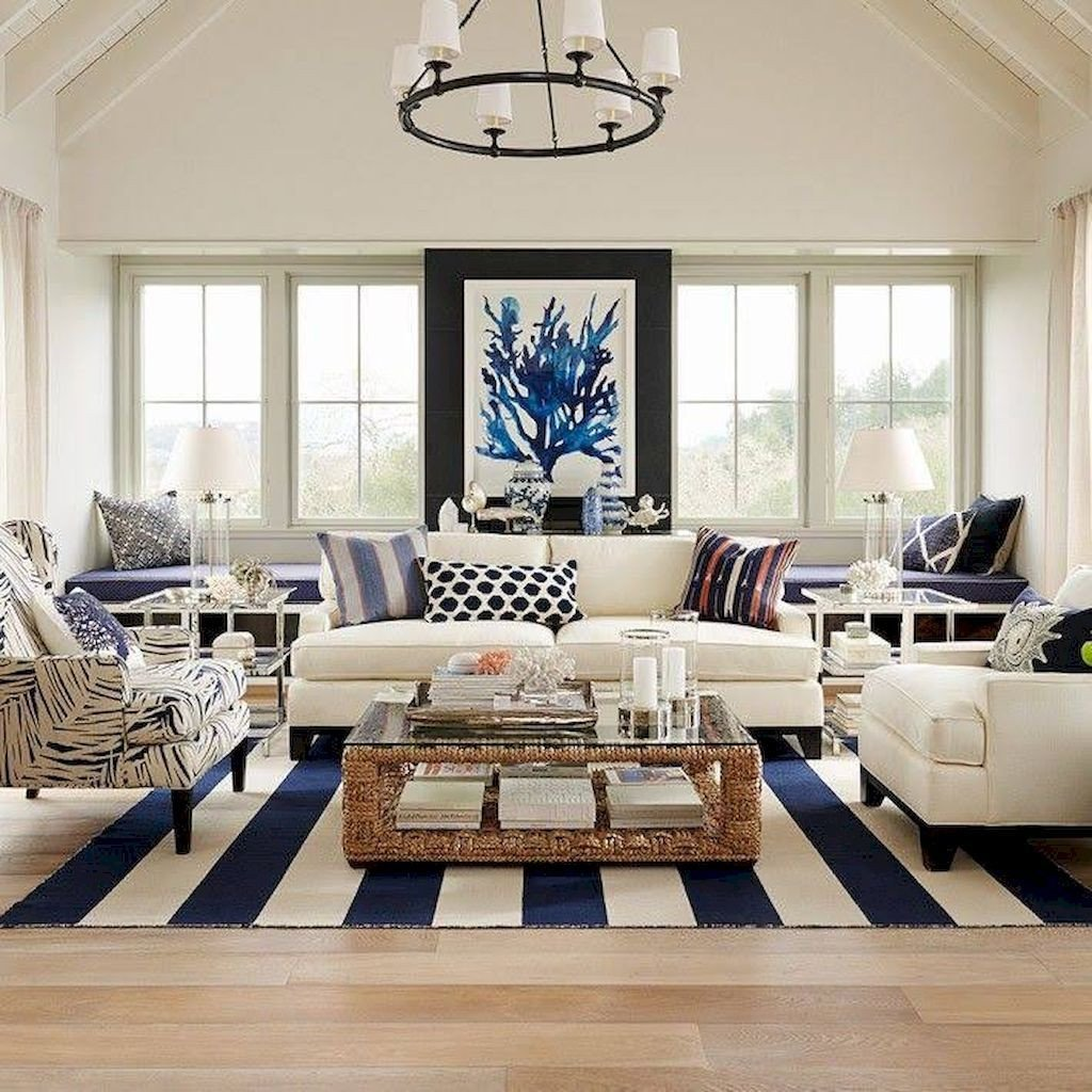 Apartment Living Room Decor Ideas 70 Cool and Clean Coastal Living Room Decorating Ideas