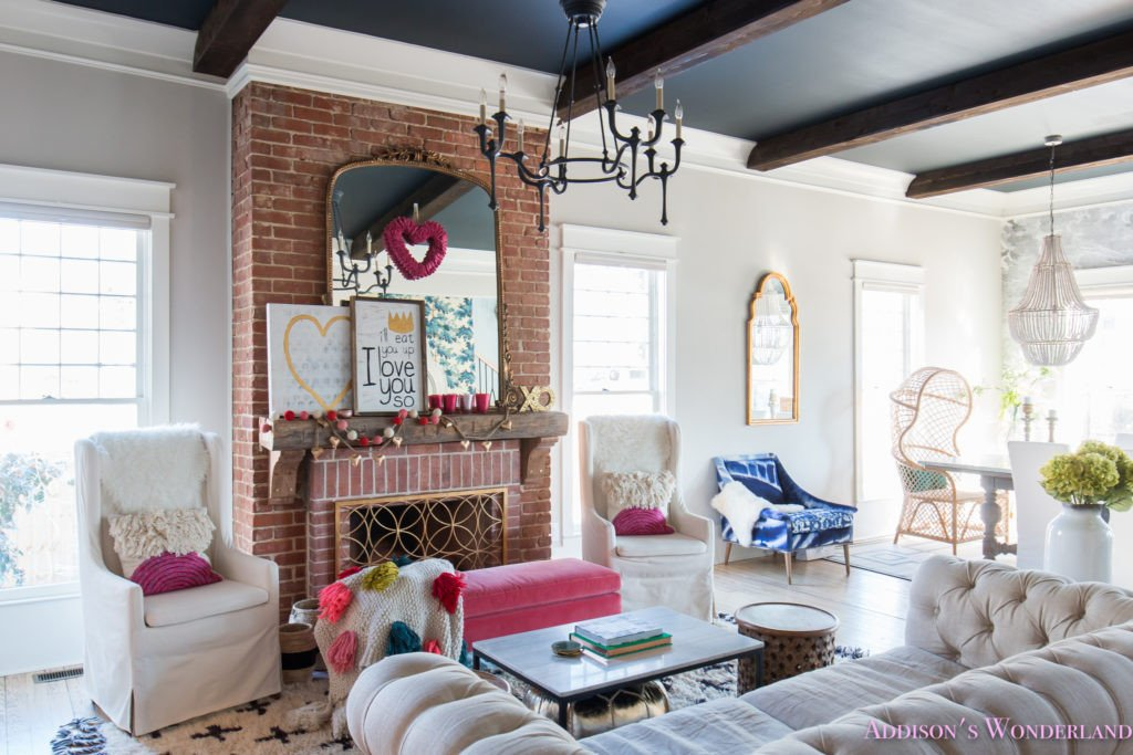 Apartment Living Room Decor Ideas Our Colorful Whimsical & Elegant Valentine S Day Living