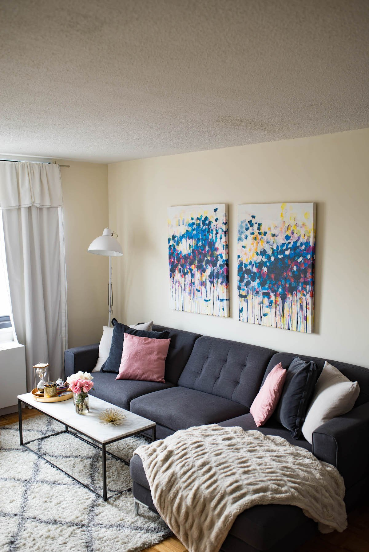 Apartment Living Room Decorating Home Decor Update New York City Apartment 2017