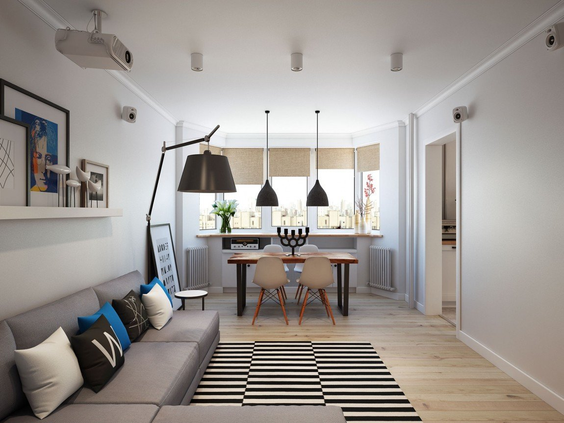 Apartment Living Room Ideas Going Scandinavian In Style Space Savvy Apartment In Moscow