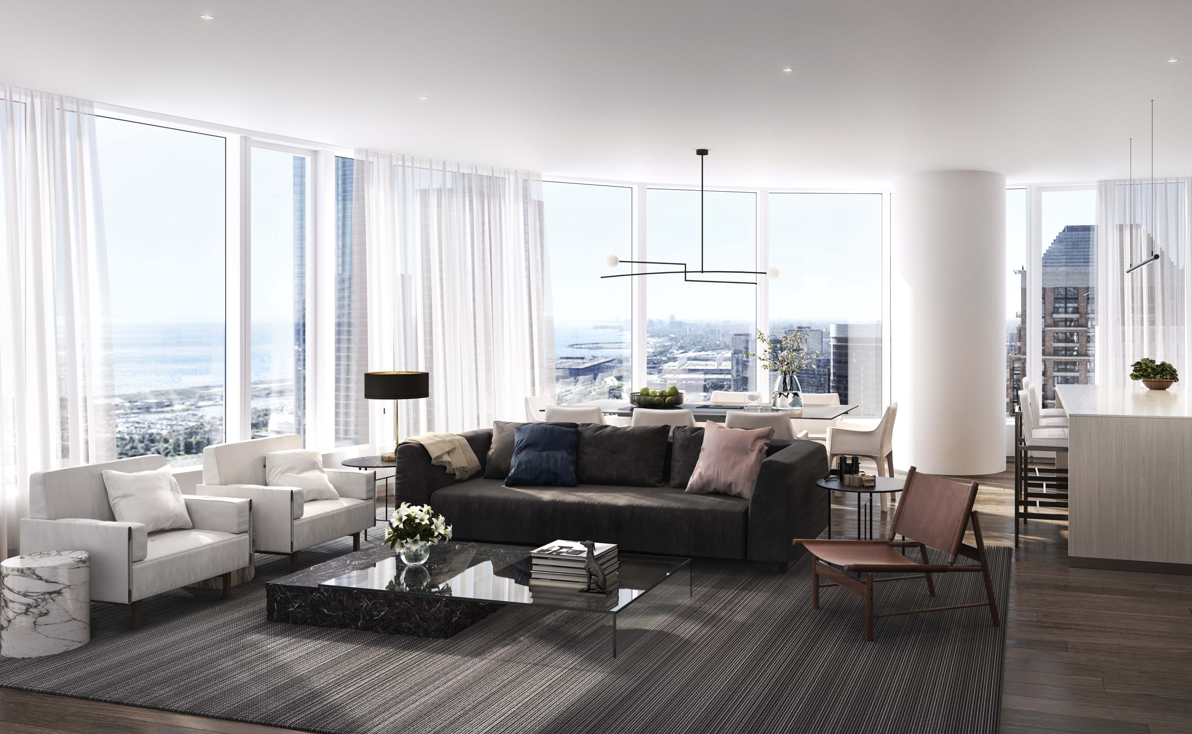 Apartment Living Room Ideas Sales Begin for Ultra Luxury Condo tower On Chicago's