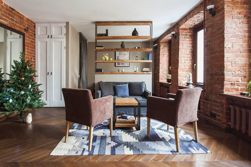 Apartment Living Room Ideas Studio Apartment Stays Authentic by Keeping Its Brick