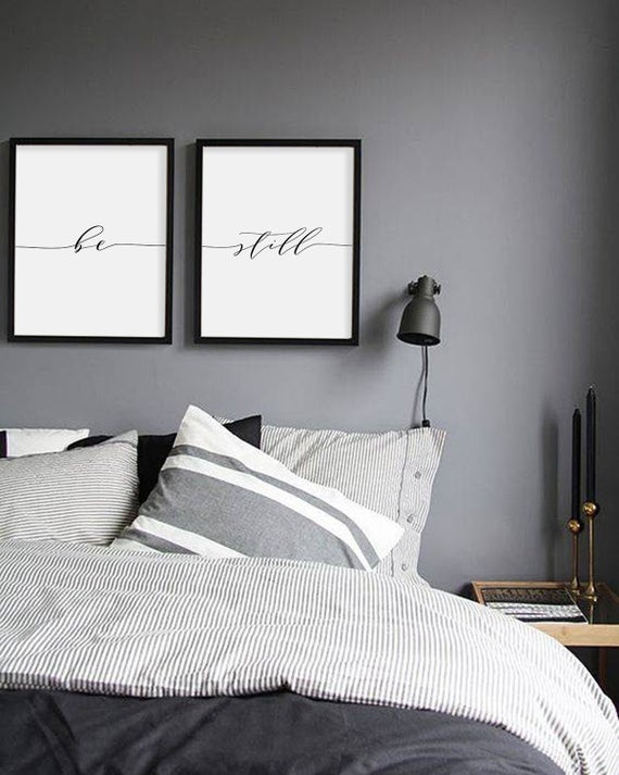 Arts for Bedroom Walls Be Still Print Minimalist Typography Art Bedroom Print Be Still Poster Yoga Wall Art Relaxation Bedroom Wall Decoration Instant Download