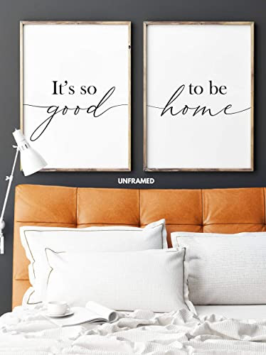 Arts for Bedroom Walls It S so Good to Be Home Unframed 18 X 24 Inches Set Of 2 Posters Minimalist Art Typography Art Bedroom Wall Art Romantic Wall Decor