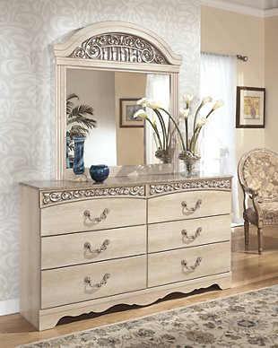 Ashley Furniture Kids Bedroom Catalina Dresser and Mirror