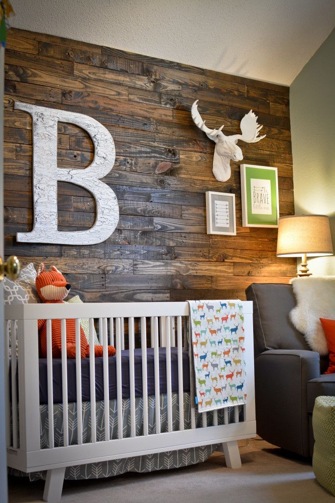 Baby Boy Bedroom theme Bowen S Woodland Nursery
