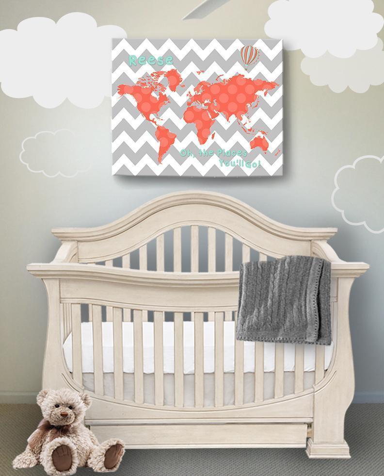 Baby Girl Bedroom Decor Personalized Baby Girl Wall Decor Dr Seuss Nursery Decor
