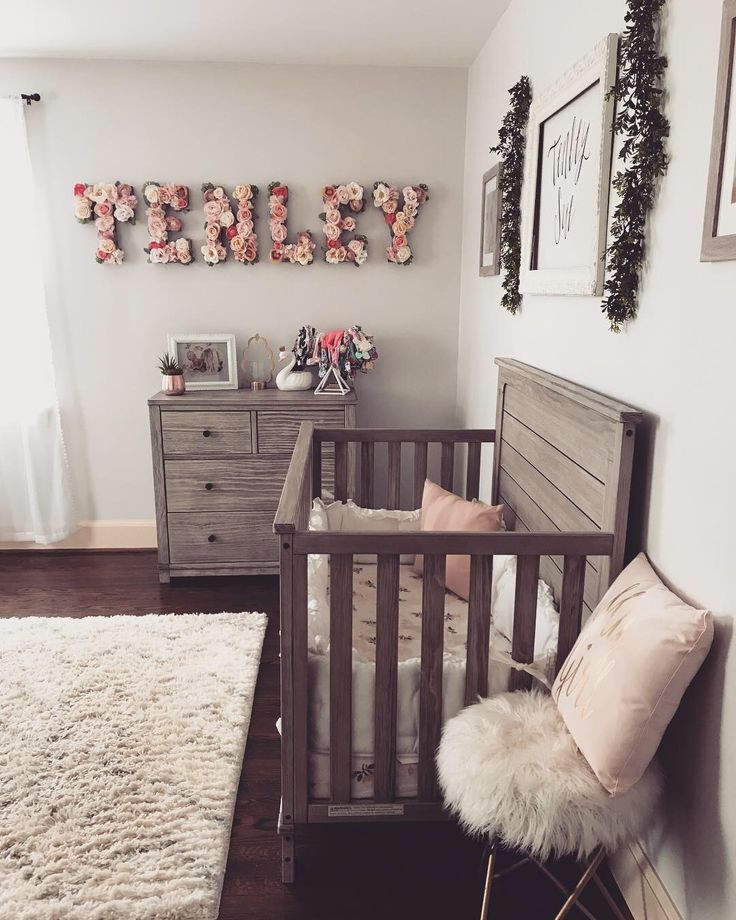 Baby Girl Bedroom Decor Rustic Girl S Nursery with Floral Name