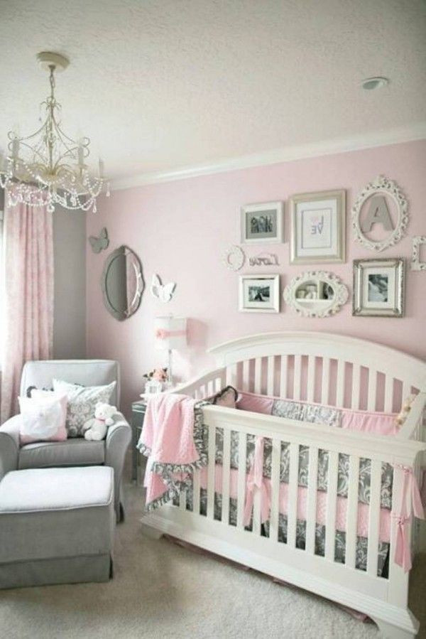Baby Girl Bedroom Ideas Pink Grey Baby Girl Bedroom