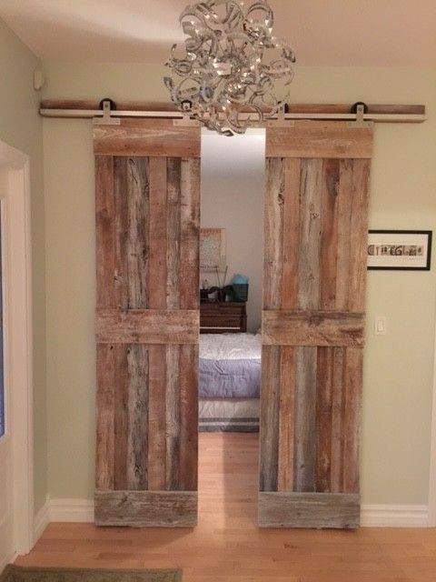 Barn Doors for Bedroom these Doors Opens Up to the Guest Bedroom they are Sliding