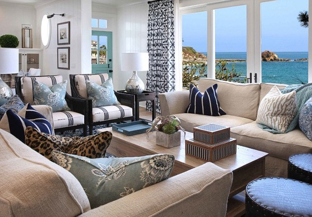 Beach House Living Room Decor Beach House with Inspiring Coastal Interiors Home Bunch