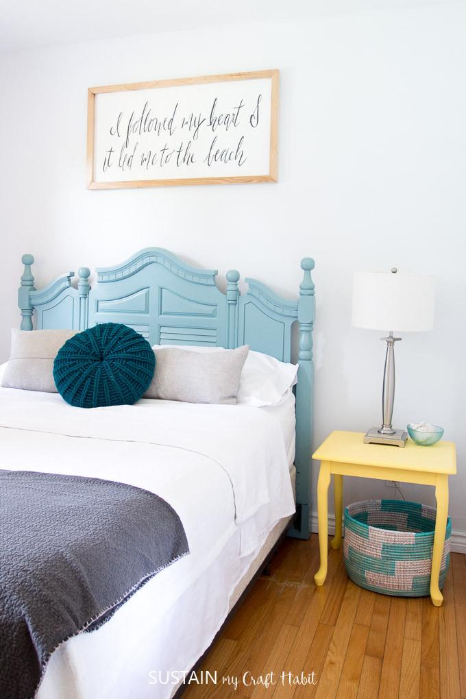 Beach theme Bedroom Decor Beach themed Bedrooms Lakeside Room Reveal – Sustain My