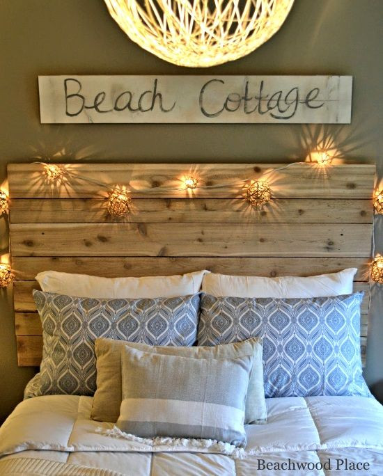 Beach themed Bedroom Accessories Beach theme Guest Bedroom with Diy Wood Headboard Wall Art