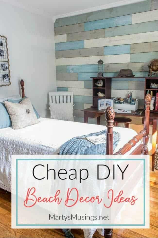Beach themed Bedroom Accessories Inexpensive Diy Beach Decor Ideas and Small Bedroom Reveal