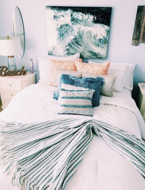 Beach themed Bedroom Furniture the Beach themed Dorm Room Ideas that Give Major Cali Vibes