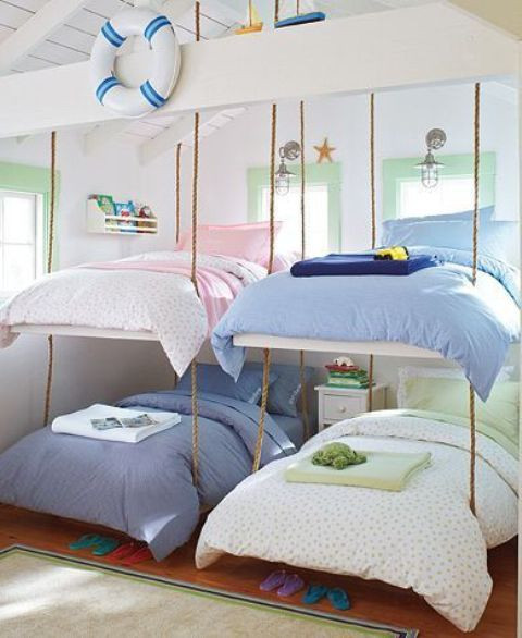 Beach themed Kids Bedroom 32 Dreamy Beach and Sea Inspired Kids Room Designs Digsdigs