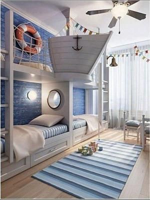 Beach themed Kids Bedroom Beach House Decorating