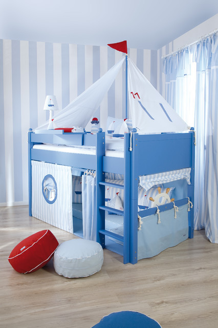 Beach themed Kids Bedroom Sailboat themed Kids Room Beach Style Kids London by