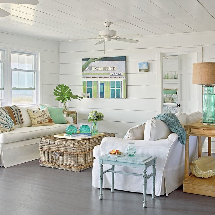 Beach themed Living Room Decor 48 Living Rooms with Coastal Style