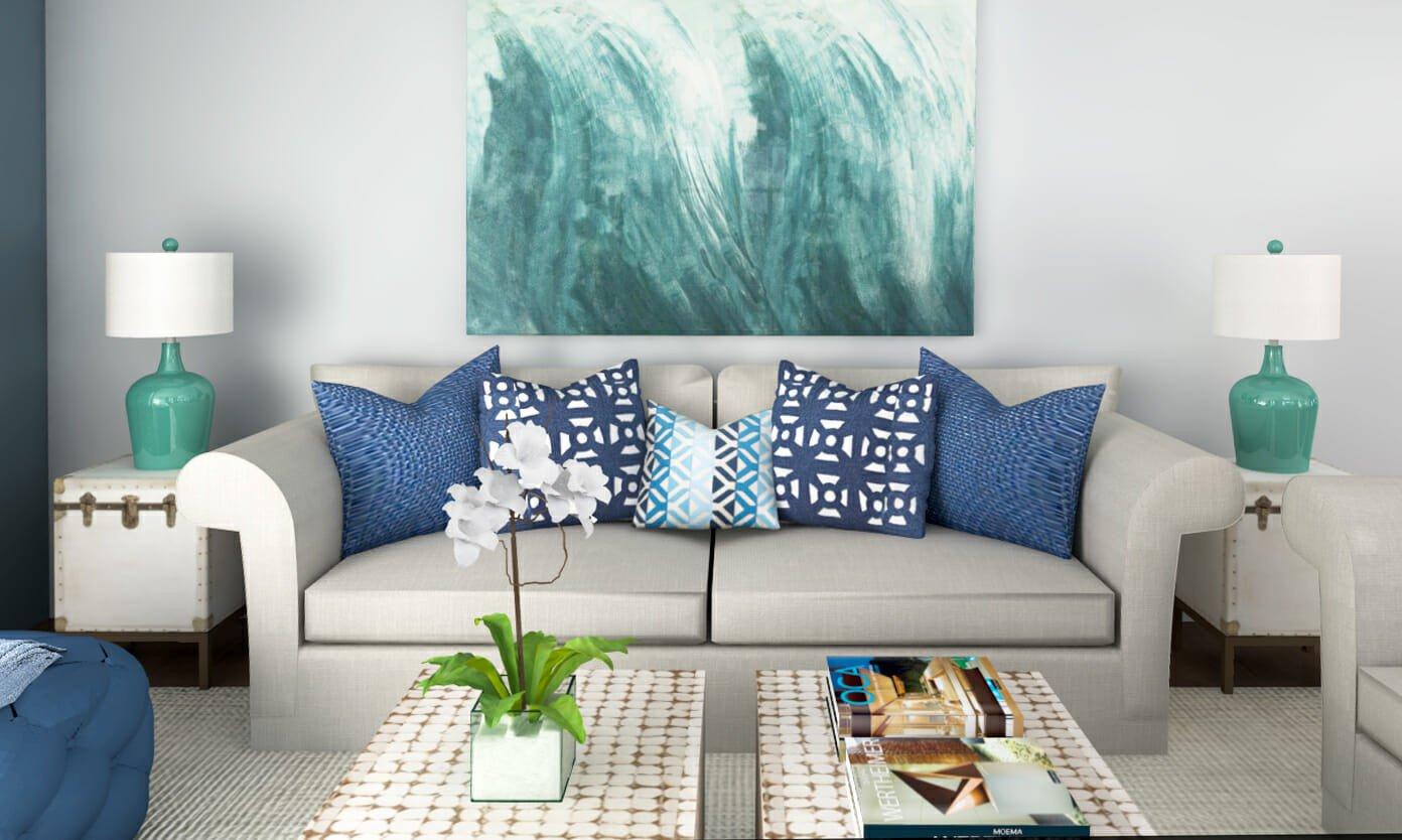Beach themed Living Room Decor Beach Decor 3 Line Interior Designer Rooms