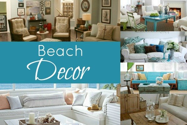 Beach themed Living Room Decor Beached themed Living Room Decor Blissfully Domestic