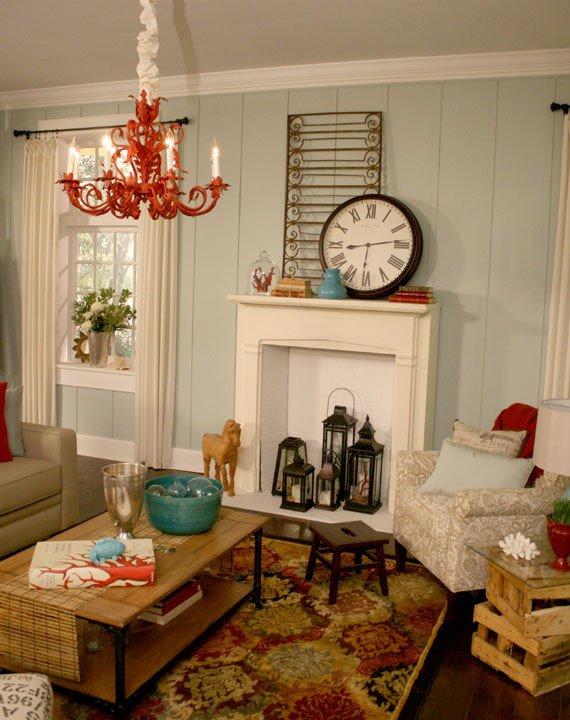 Beach themed Living Room Decor Remodelaholic Beach themed Living Room