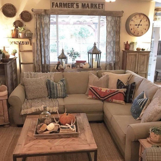 Beautiful Comfortable Living Room 44 Beautiful Rustic Farmhouse Living Room Design Ideas