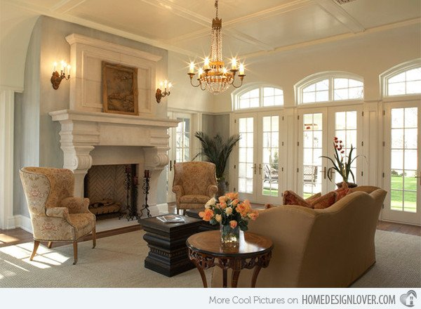 Beautiful Traditional Living Room 15 Beautiful Traditional Coffered Ceiling Living Rooms
