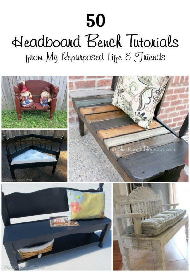 Bedroom Bench with Back 50 Headboard Bench Ideas My Repurposed Life Rescue Re