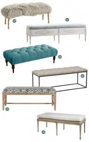 upholstered bench for end of bed