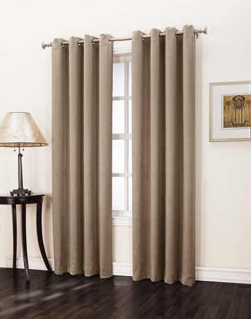 Bedroom Curtains at Walmart 918 Hayworth Room Darkening Grommet Curtain Taupe 50 In