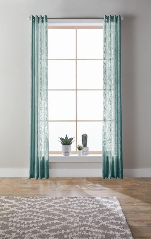 Bedroom Curtains at Walmart Better Homes & Gardens Slub Sheer Single Window Curtain Panel