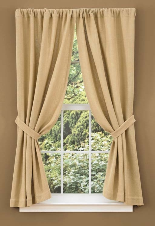 Bedroom Curtains at Walmart Burlap Curtain Panels Walmart