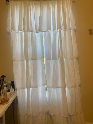 Bedroom Curtains at Walmart Your Zone Ruffle Girls Bedroom Curtain