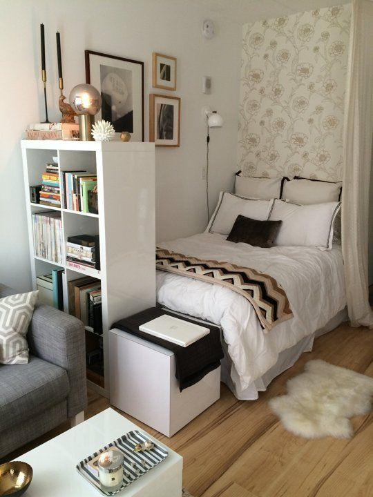 Bedroom Designs for Small Rooms I Love the Bination Of Neutral Colors In This Snug Studio