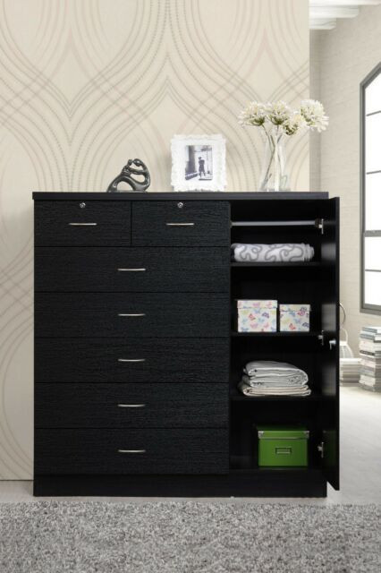 Bedroom Dressers and Chests Bedroom Storage Dresser 7 Drawer Furniture Clothes organizer Cabinet Chest New